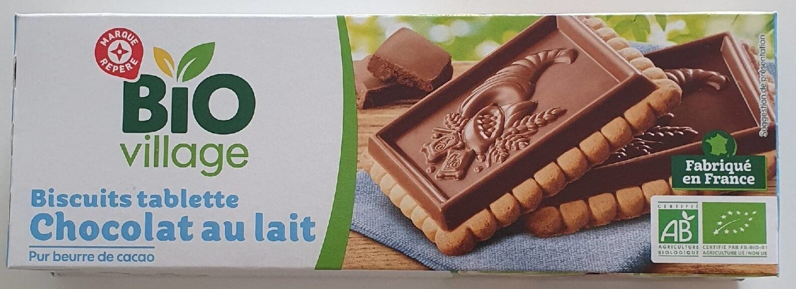 Biscuits tablette chocolat au lait - Produit - fr