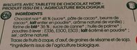 Biscuits tablette chocolat noir - Ingrédients - fr