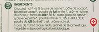 Biscuits tablette chocolat noir - Ingrediënten - fr