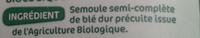 Couscous semi complet bio - Ingredients - fr