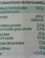 Couscous semi complet bio - Nutrition facts - fr