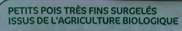 Petits pois tres fins bio - Ingrédients