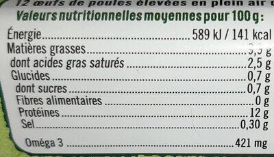 Oeufs frais bio - 17