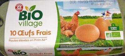 Oeufs biologiques de poules élevées en plein air x 10 - Produit - fr
