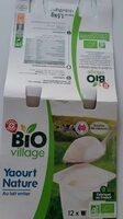 Yaourt nature 12x125g bio - Product - fr