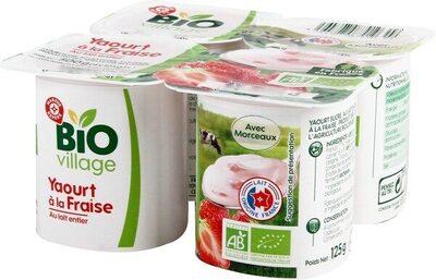 Yaourt au lait entier à la fraise - Produit