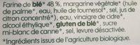 Pâte feuilleté à dérouler bio - Ingredients