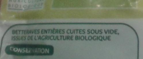 Betteraves entières - Ingrediënten - fr