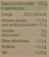 Dessert de fruits pomme x 4 - Informations nutritionnelles - fr