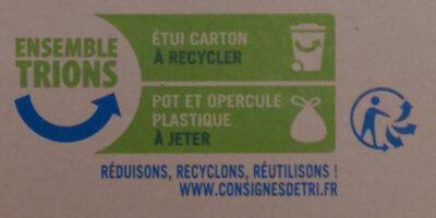 Dessert de fruits pomme x 4 - Instruction de recyclage et/ou information d'emballage - fr