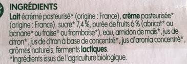 Fromage frais aux fruits x 12 - Ingredients - fr