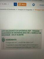 Vinaigre balsamique bio - Ingrediënten - fr