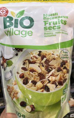 Muesli floconneux - Raisins secs, noix de coco & noisettes - Product