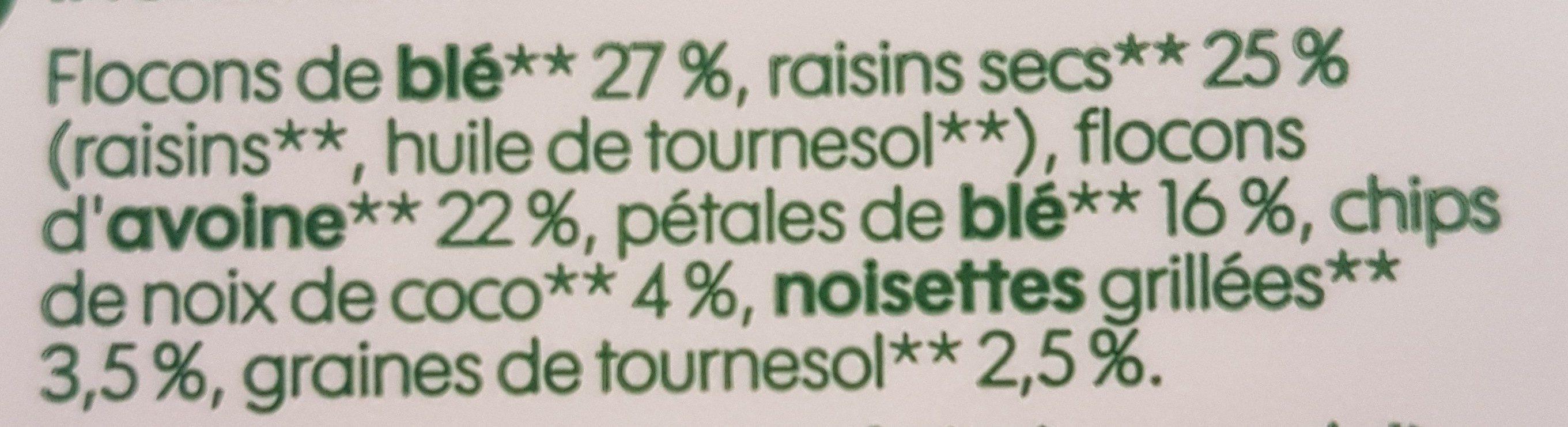 Muesli flocon fruits secs - kg - Ingredients