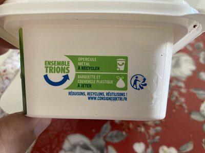 Matière grasse végétale bio 58 % Mat. Gr. - Istruzioni per il riciclaggio e/o informazioni sull'imballaggio - fr