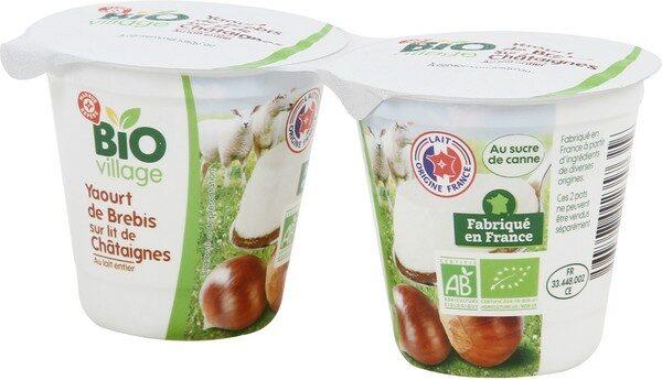 Yaourt au lait de brebis et châtaignes - Product