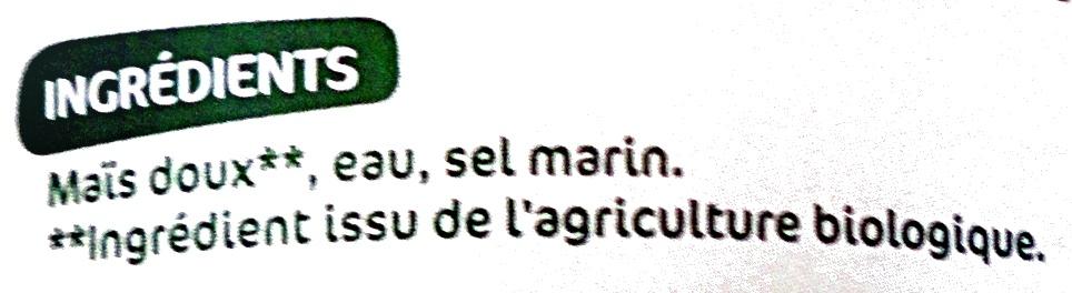 Maïs bio sans sucres ajoutés - Ingrédients - fr