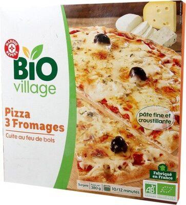 Pizza 3 fromages bio cuite au feu de bois - Produit