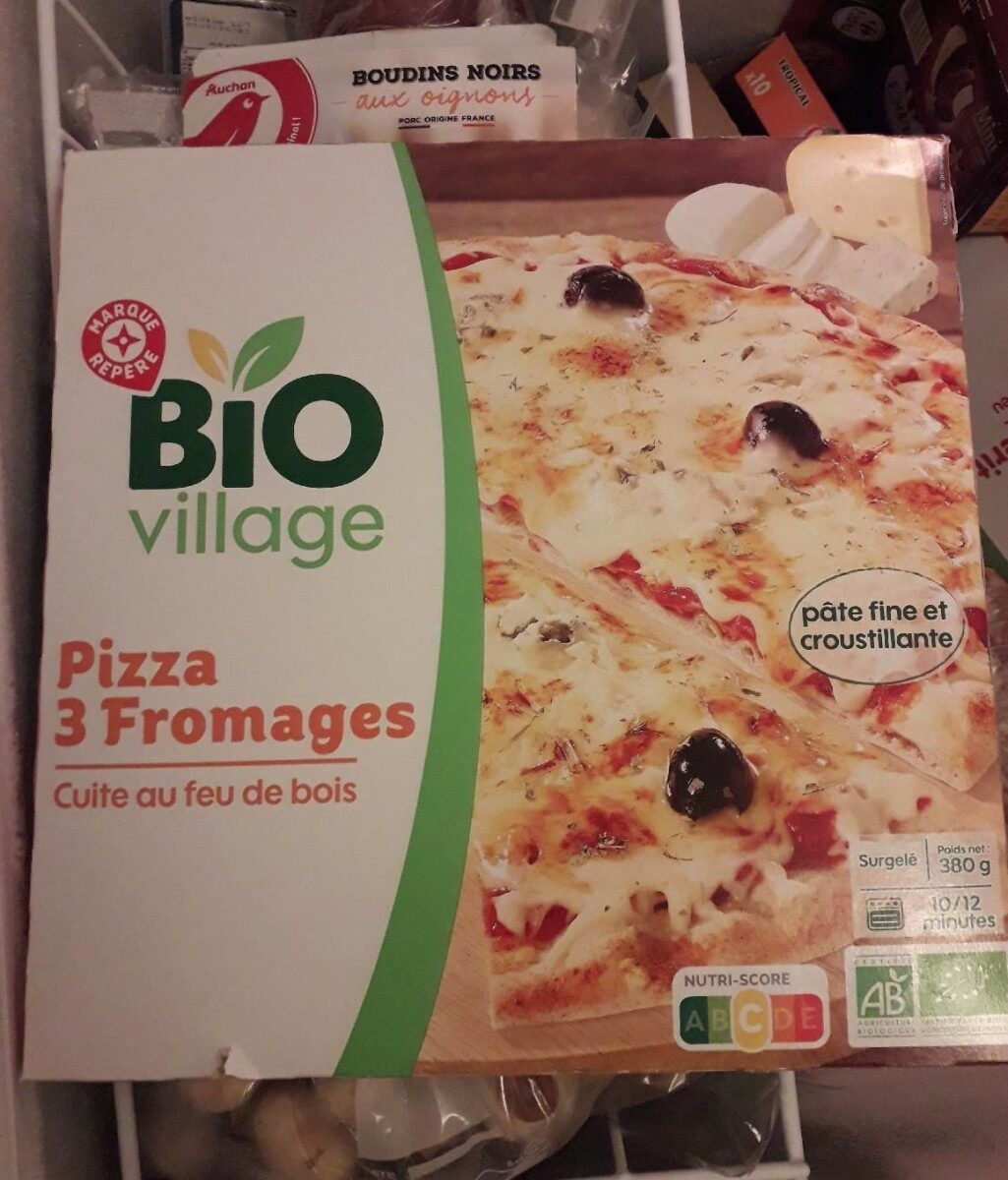 Pizza 3 fromages bio cuite au feu de bois - Produit - fr