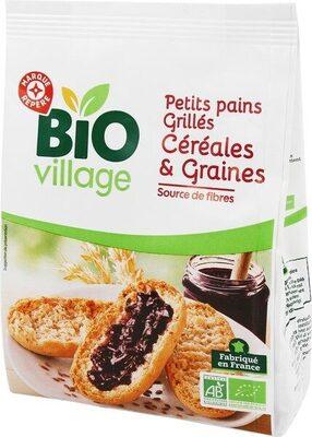 Petits pains grillés 5 céréales et 2 graines bio - Produit - fr