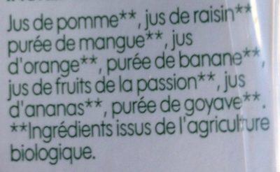 Pur jus multifruits bio - Ingrediënten - fr