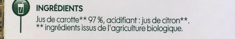 Pur jus de carotte bio - Ingredients - fr