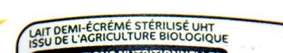 Lait Demi-Écrémé stérilisé UHT - Ingrédients - fr