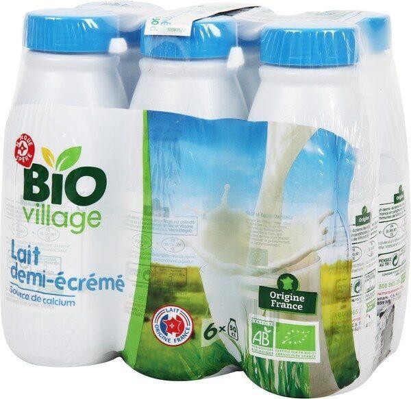 Lait demi-écrémé bio bouteille - Produit - fr