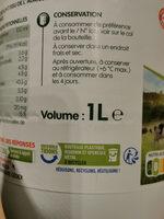 Lait UHT entier bio - Istruzioni per il riciclaggio e/o informazioni sull'imballaggio - fr