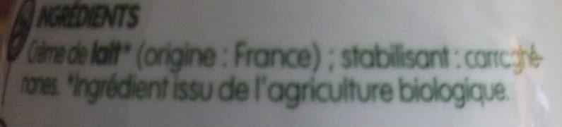 Crème Fluide Entière - Ingredients