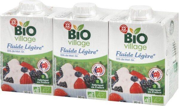 Crème légère liquide bio 15% Mat. Gr. 20 cl x 3 - Product