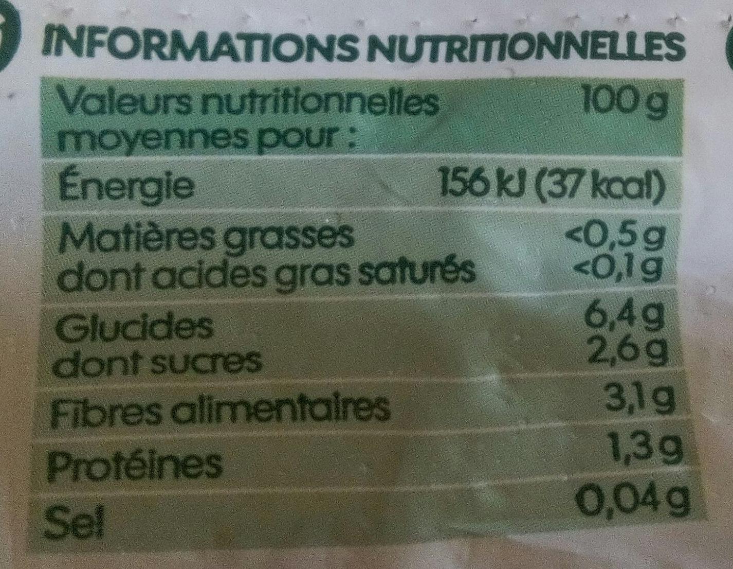 Légumes bio pour potage - Voedingswaarden - fr