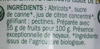 Confiture extra Abricots - Ingredients