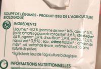 Jardinière de légumes bio - Ingrediënten - fr