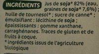 Préparation culinaire au soja bio 200 ml x 3 - Ingrediënten