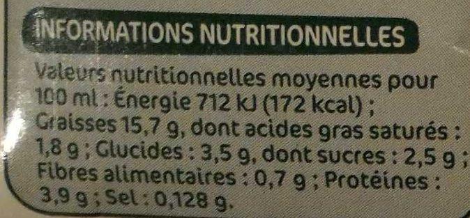 Préparation culinaire au soja bio 200 ml x 3 - Voedigswaarden