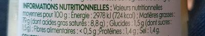 Mayonnaise à la moutarde de Dijon bio - Voedingswaarden - fr