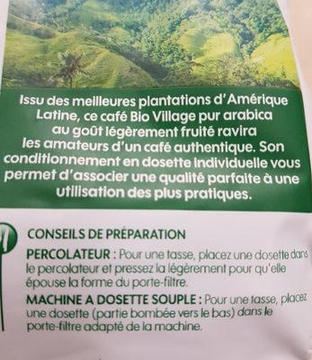 Dosettes café bio Amérique Latine x 18 - Voedingswaarden - fr