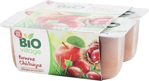 Compote pomme châtaigne bio x 4 - Produit