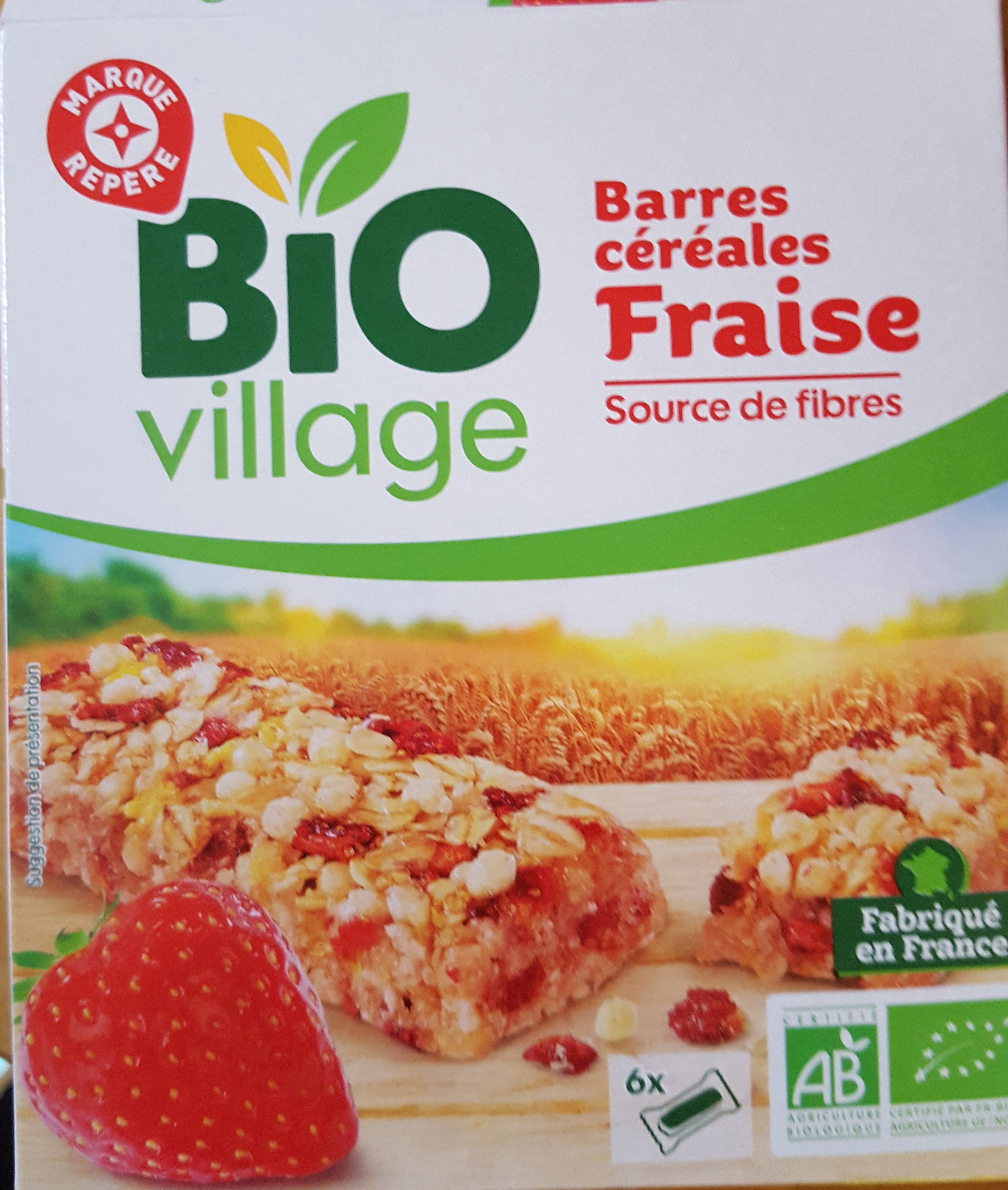 Barre céréales fraise biovillage - Product