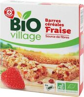 Barres céréales bio fraise x 6 - Produit - fr