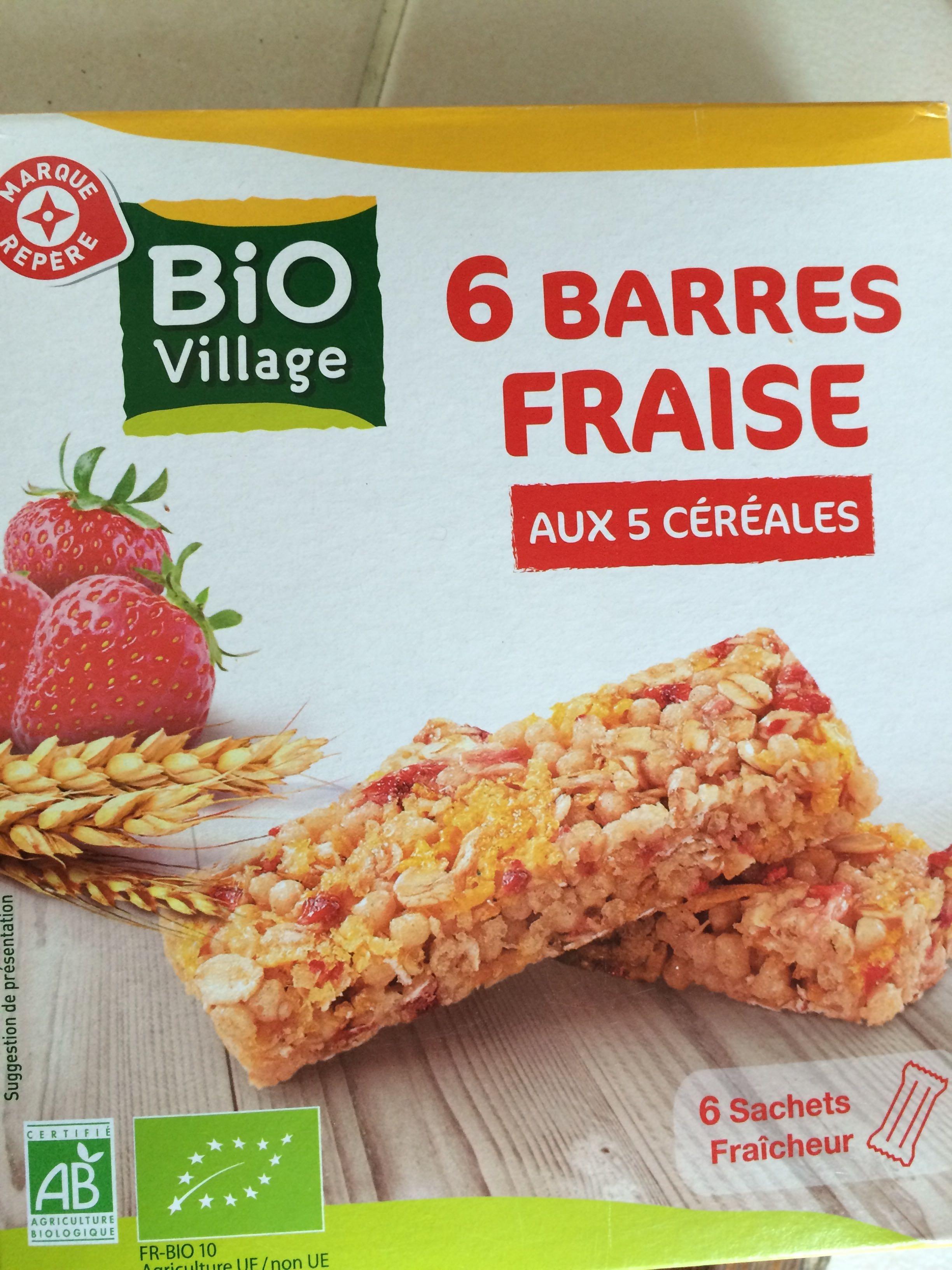 6 barres fraise aux 5 céréales - Product