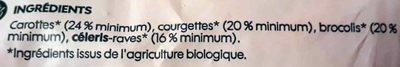 Julienne de légumes bio - Ingredients - fr