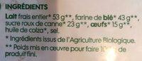 Crêpes nature bio x 8 - Ingrediënten