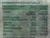 Crêpes nature bio x 8 - Voedingswaarden - fr
