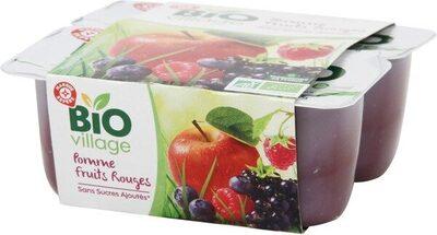Purée de fruits pomme et fruits rouges sans sucres ajoutés x 4 - Product - fr