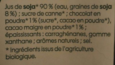Boisson au soja saveur chocolat bio - Ingredienti - fr