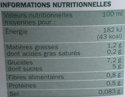 Boisson d'avoine bio - Informations nutritionnelles