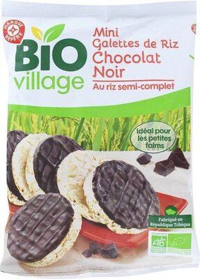 Mini galettes de riz bio chocolat noir - Produit - fr