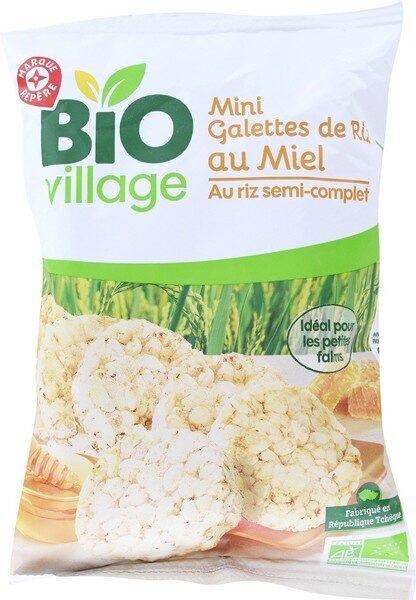 Mini galettes de riz bio au miel - Product